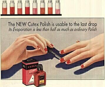 anúncio de esmaltes do final dos anos 30