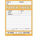 Twitter no papel