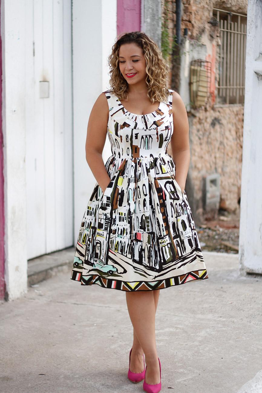 Vestido coleção Havana Kate Spade