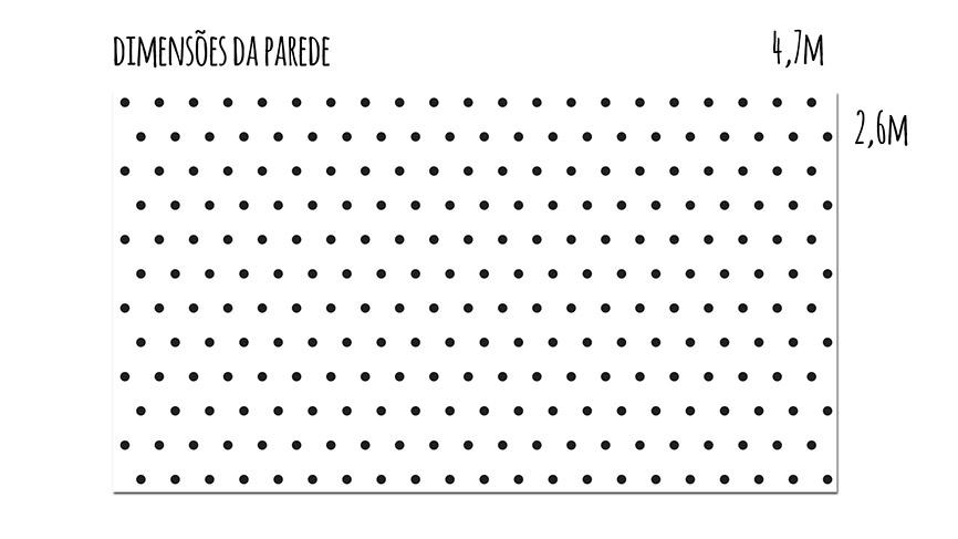 medidas da parede de bolinhas