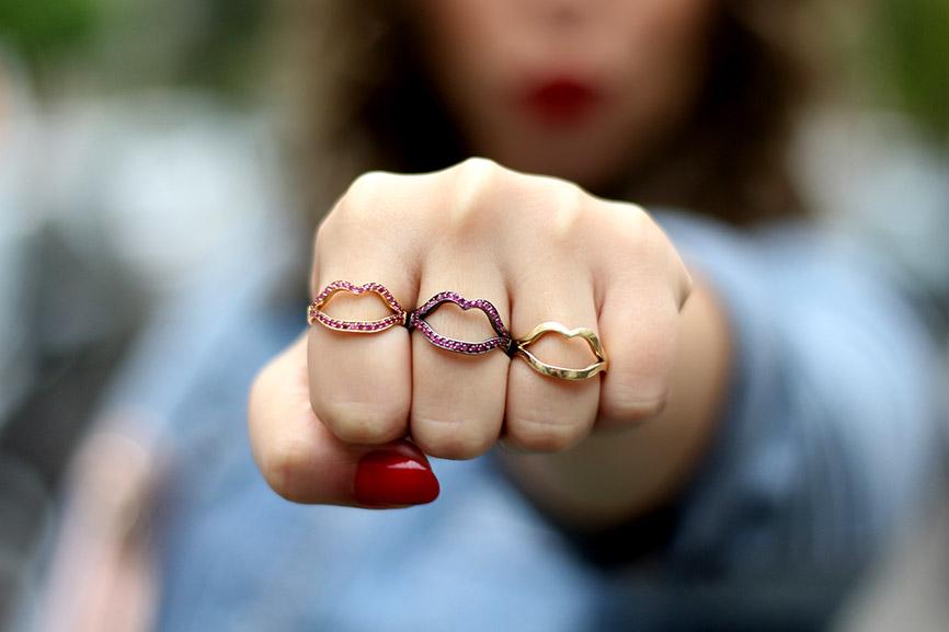anéis Palô coleção Kiss