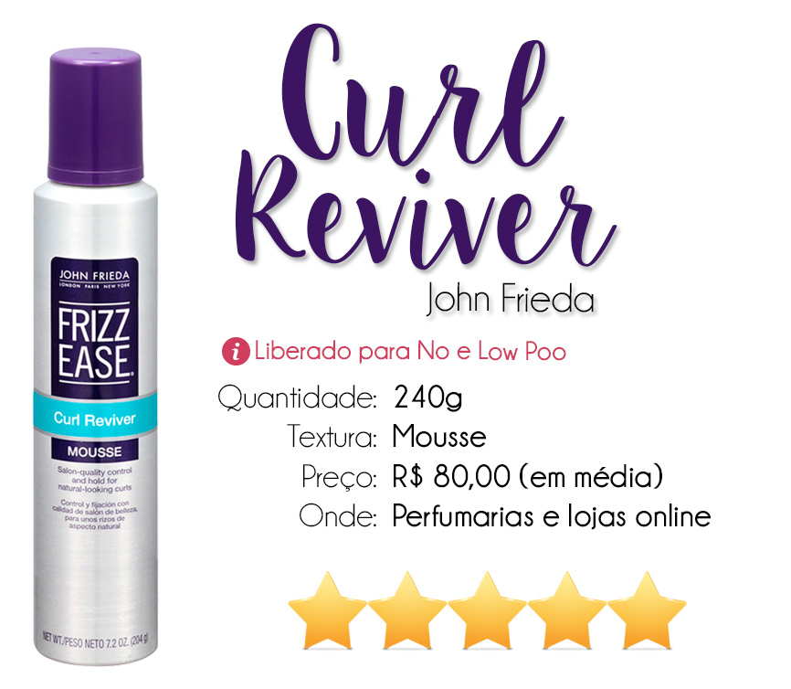 resenha mousse curl reviver  frizz ease john frieda