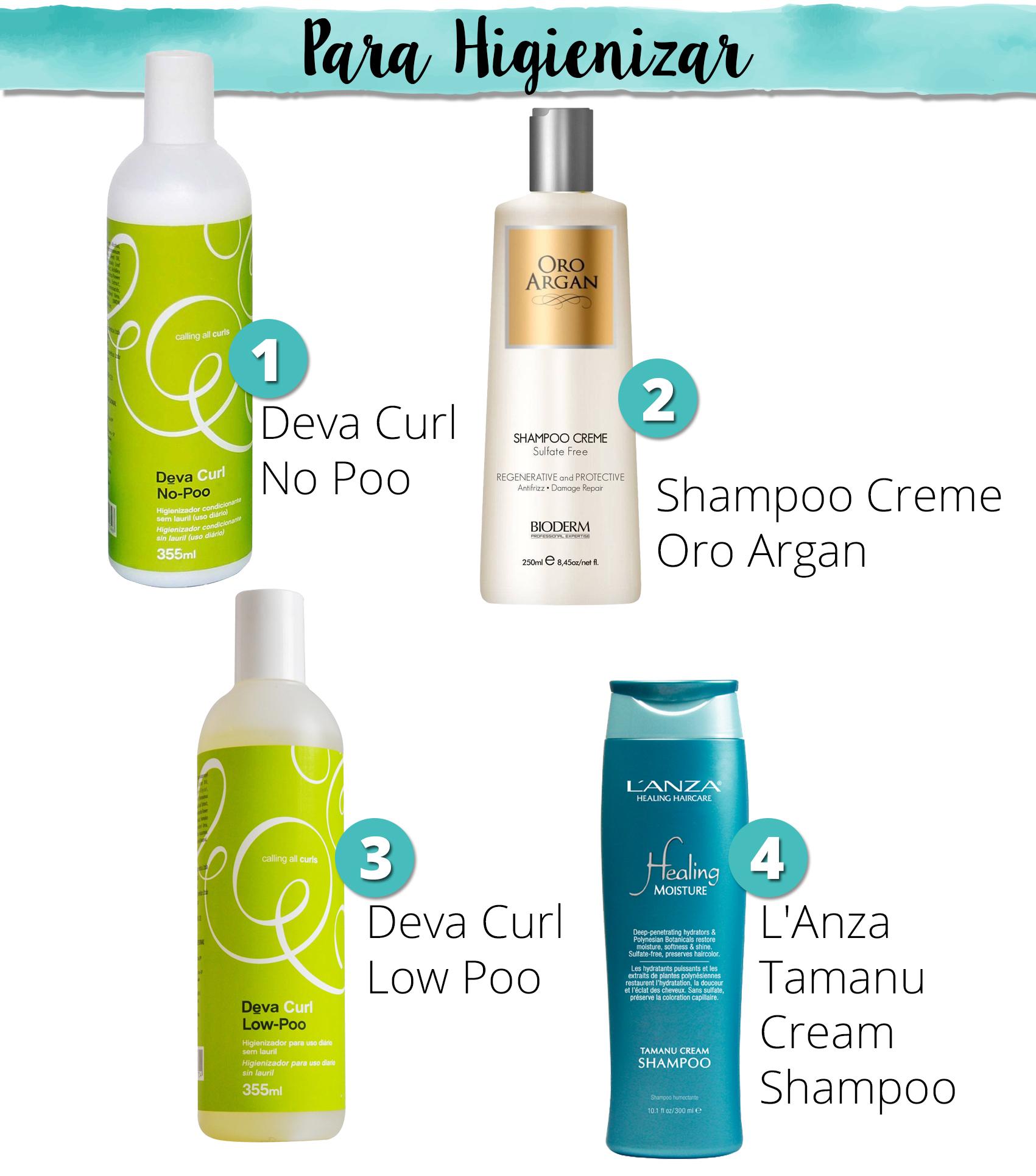 higienizador sem sulfato para cabelo cacheado no poo