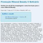 Resultado da Promoção Mineral Beauty
