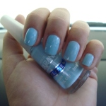 Esmalte da semana (passada): Azul Céu