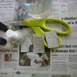 Unhas com estampa de jornal!